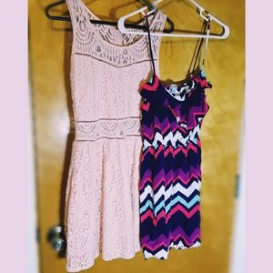 Junior girl pink and multicolored dresses